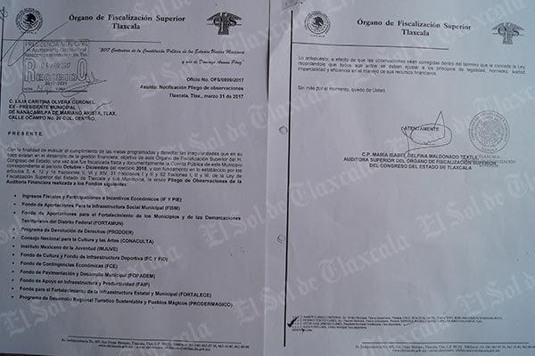 Presentan observaciones 12 programas que de la anterior administración municipal de Nanacamilpa