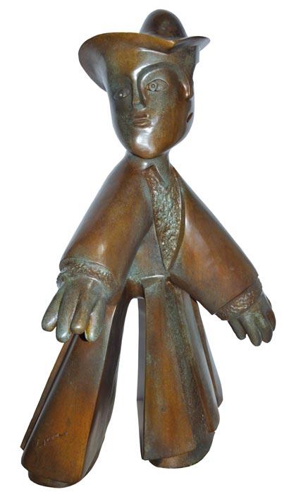 """En la pieza """"Niño jugando a la pelota"""", el también escultor mexicano se plasmó en sus años de infancia. /EL SOL DE TLAXCALA"""