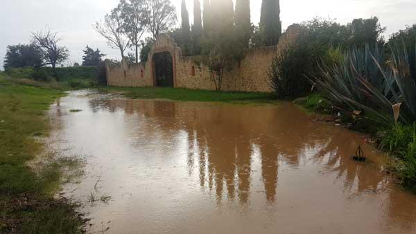 No cayó una sola gota de agua, pero se inundaron los cultivos