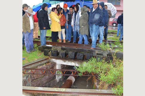 Solicitan autoridades de Calpulalpan a SCT apoyo  para rescatar exestación de ferrocarril