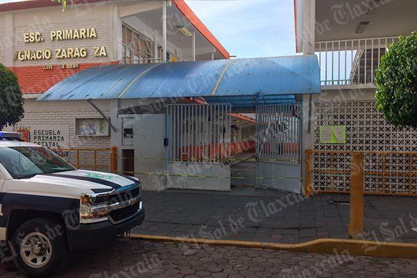 """Roban en primaria """"Ignacio Zaragoza"""" del centro de Zacatelco"""
