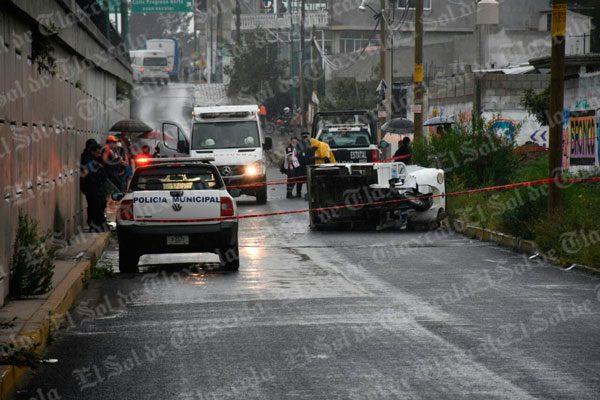 Muere en Zacatelco repartidor tras ser embestido por un microbús