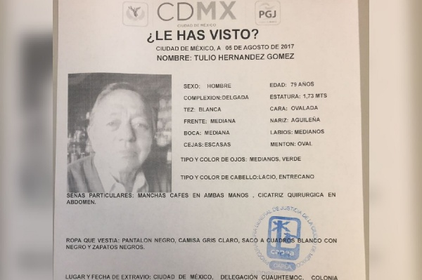 Desaparecido exgobernador de Tlaxcala Tulio Hernández