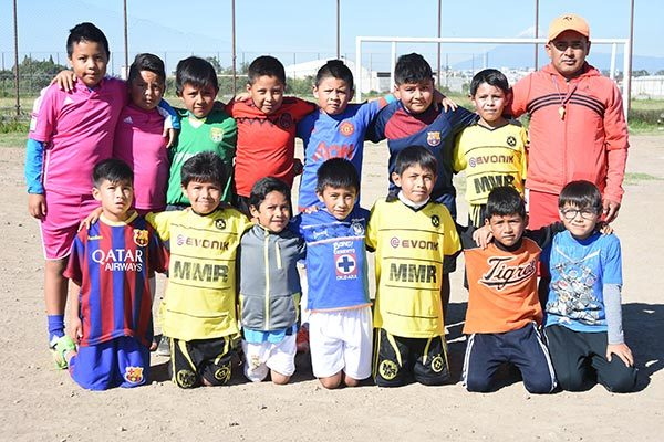Preparan a niños en Contla para jugar en liga Fair Play de Puebla