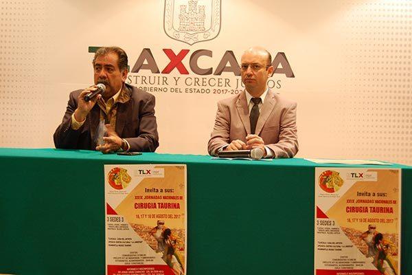 En tres sedes desarrollarán las Jornadas Nacionales de Cirugía Taurina en Tlaxcala