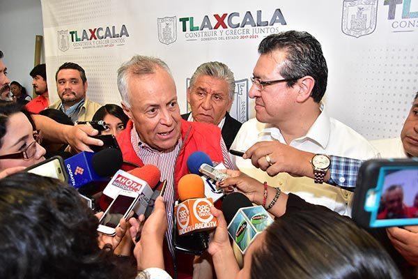 Gustavo Cárdenas Monroy, subsecretario de Desarrollo Agrario de la Sedatu, informó que otorgarán capacitación y audiencias ejidales para impulsar la justicia agraria . / Héctor LORENZO
