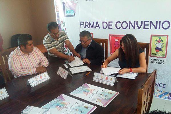 Fomentarán en lengua náhuatl transparencia y protección de datos en Contla