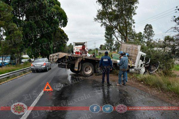 Camión derriba árbol en San  Matías y provoca caos vial