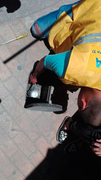 Personal de la Comisión de Agua Potable y Alcantarillado de Apizaco, detectó y clausuró tomas clandestinas. /Tomás BAÑOS