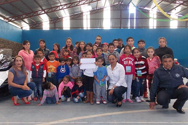 Prepara PF a niños para que no sean víctimas de la delincuencia en Nanacamilpa