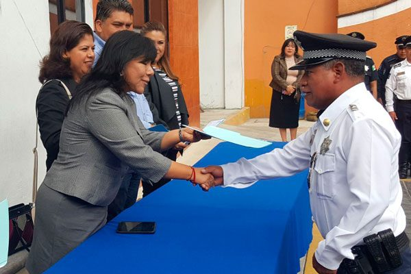 Reciben policías  homologación salarial Fortaseg