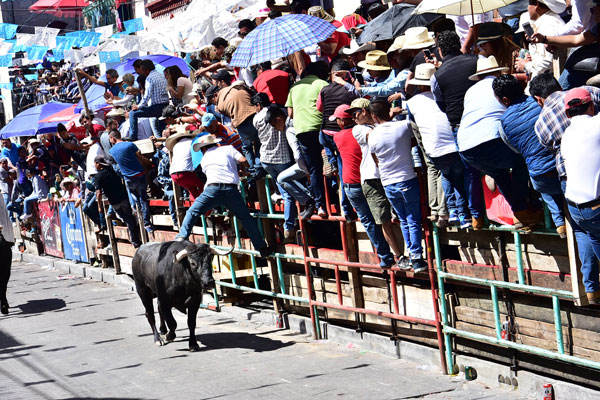 De acuerdo con las autoridades municipales, este año la asistencia a la Huamantlada fue de más de 350 mil personas. / Héctor LORENZO