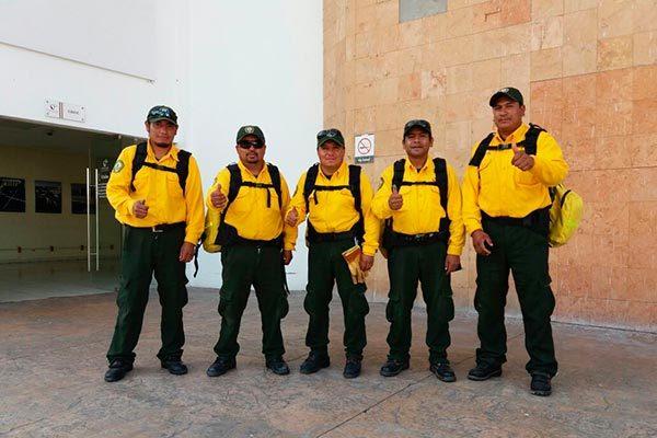 Envió Conafor Tlaxcala a 5 combatientes a Canadá
