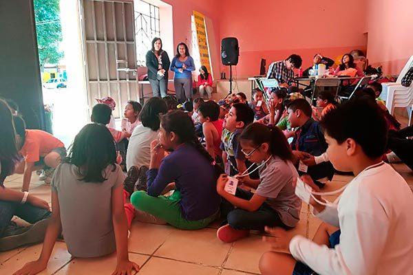 Como parte de las actividades de sensibilización emprendidas por el ayuntamiento capitalino para luchar contra la trata de personas, se organizaron talleres dirigidos a niños del municipio. /EL SOL DE TLAXCALA