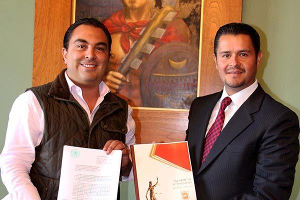 Presenta Héctor Maldonado primer informe como Magistrado del TSJE