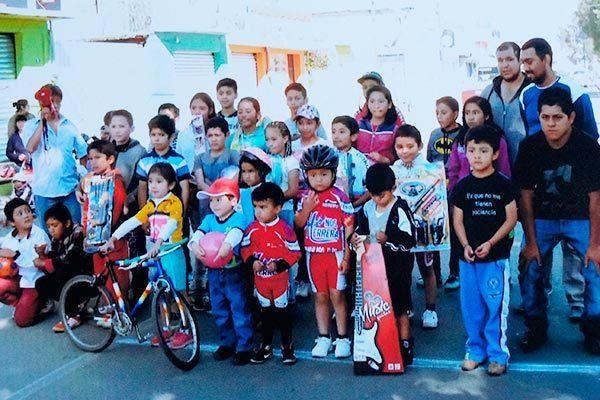 Participan 28 menores en competencia ciclista infantil de Calpulalpan