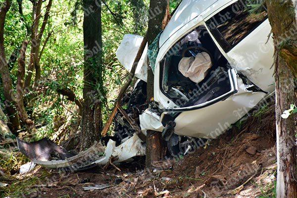 Automovilista provoca accidente en Apetatitlán y resulta lesionado