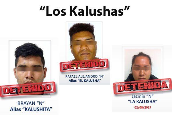 """Ellos son los """"Kalushas"""", una familia dedicada a asaltar en Puebla"""