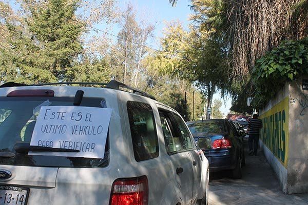 Solo nueve mil vehículos han sido verificados en el estado