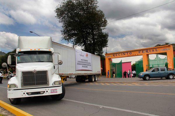 Envía Tlaxcala 75 toneladas de ayuda a estados afectados por los sismos