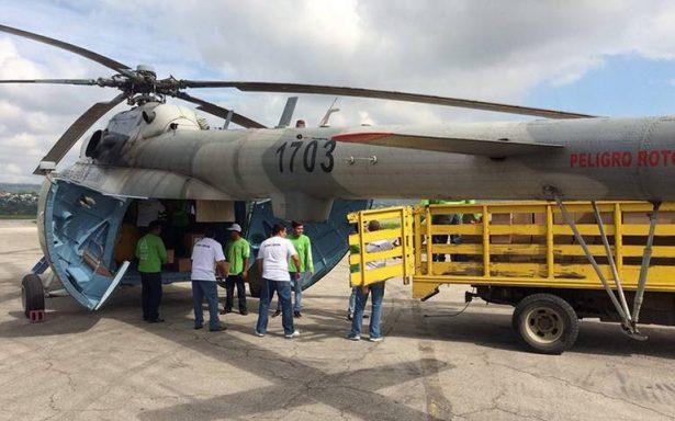 Helicóptero de la FAM con víveres para damnificados se desploma en Chiapas
