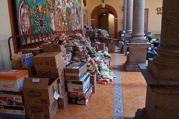 Se suma Tlaxcala a recabar víveres para damnificados