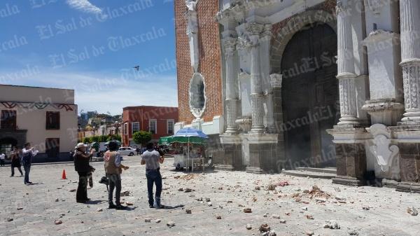 [Video] Afectaciones graves a parroquia de San José tras sismo de 7.1 grados