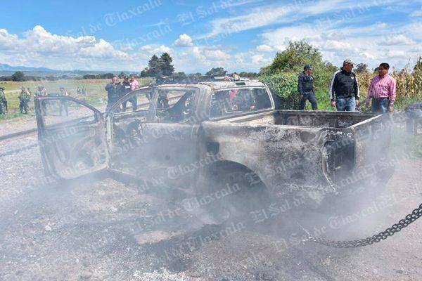 Robo a tren desata balacera en Lázaro Cárdenas, Huamantla; hay dos policías heridos y una camioneta quemada