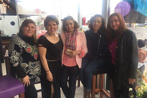 Uri Elena Rivera Rivera, Marina Aguilar, Silvia Araceli Pérez Morales, Noemí Lozada Islas y Teresa Saucedo Castillo