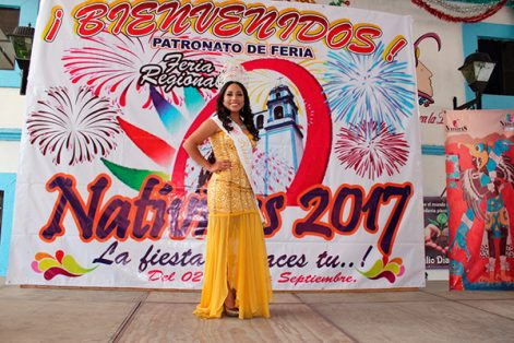 Noemí Sampedro Bernal, reina de la Feria Regional Nativitas 2017