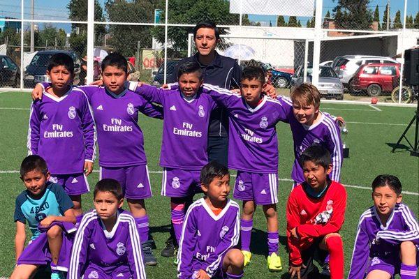 Conquista Real Madrid  título infantil de futbol siete  en municipio de Zacatelco