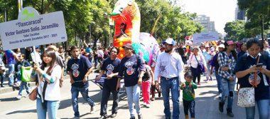 Alebrije de Zacatelco estuvo presente en desfile de CDMX