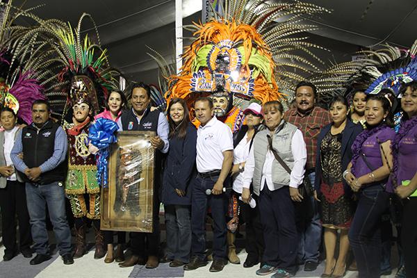 Las autoridades, encabezadas por el alcalde Francisco Villarreal Chairez, estimaron que durante esta celebridad, se dieron cita unas siete mil personas de Tlaxcala y otras entidades del interior del país. /Tomás BAÑOS