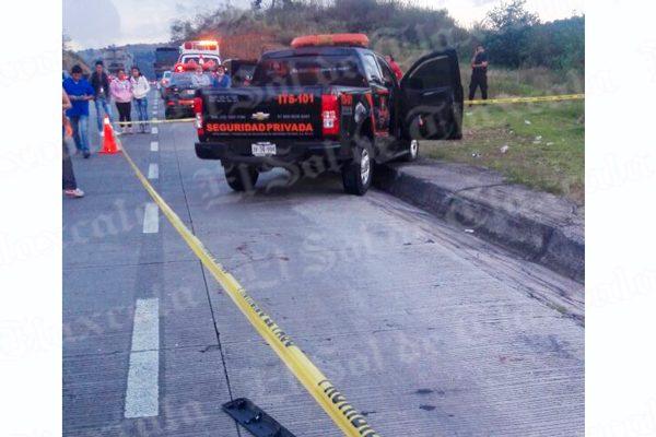 Asesinan a un custodio  durante robo de tráiler en Ixtacuixtla