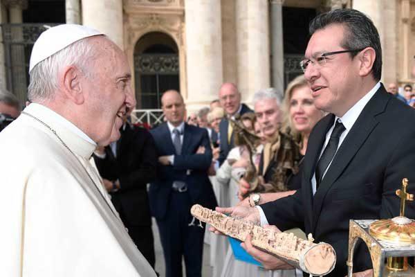 Agradece Marco Mena solidaridad del Papa con el pueblo de Tlaxcala