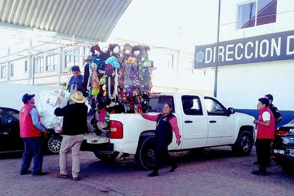 Inicia desalojo de ambulantes en la cabecera de Huamantla