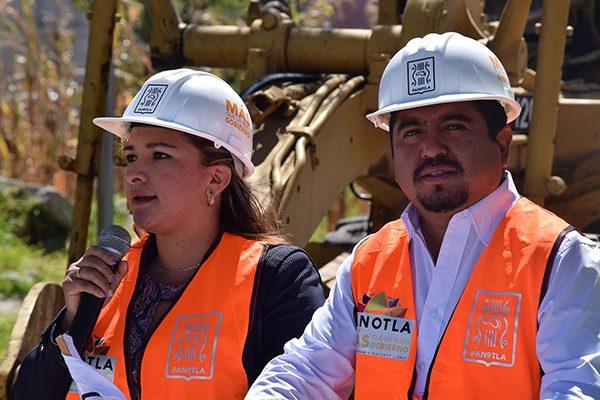 Inician en Panotla obras de adoquinamiento y drenaje