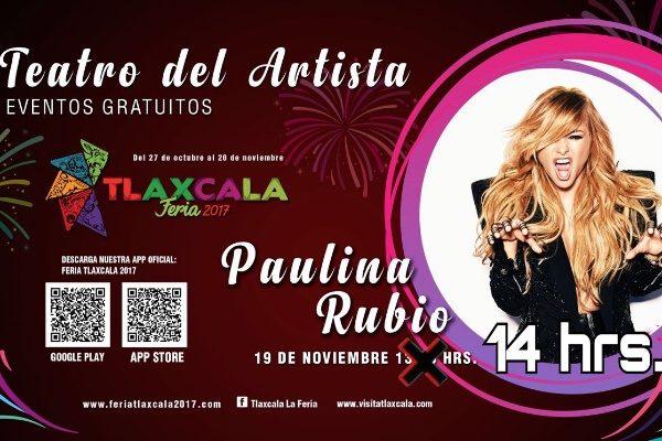 Ofrecerá Paulina Rubio concierto gratuito en la Feria Tlaxcala