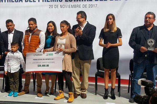 Entregan el Premio Estatal del Deporte 2017