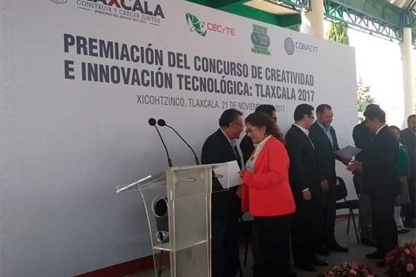 Entregan premios del Concurso de Creatividad e Innovación Tecnológica: Tlaxcala 2017
