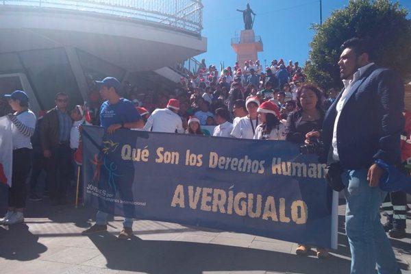 Marchan por los Derechos Humanos; colectivos estiman que el 50 % de la población desconoce sus garantías