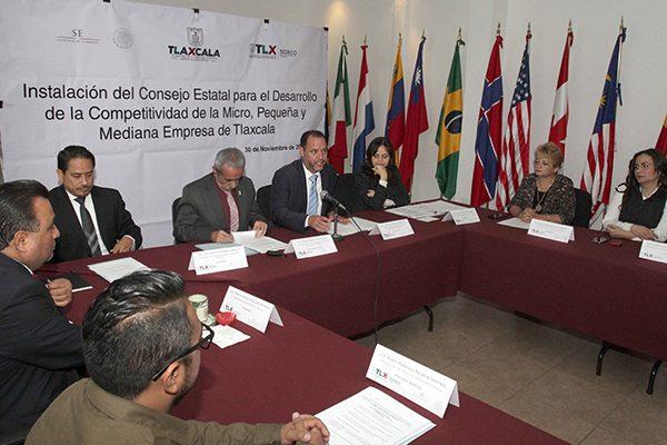 Instalan Consejo Estatal de Competitividad de la Micro, Pequeña y Mediana Empresa