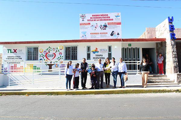 Rehabilitan la Unidad Básica de Rehabilitación de Tetla