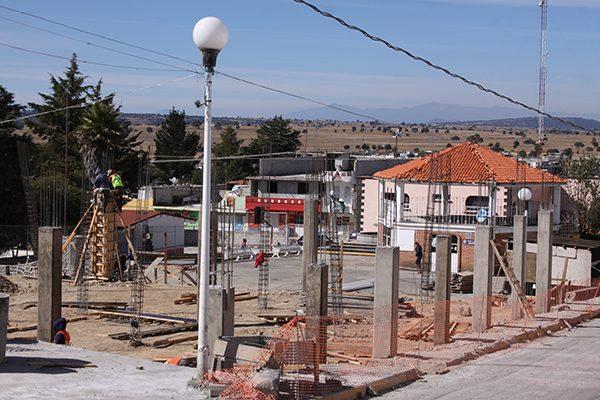 Registra avance de 40 % construcción de nueva alcaldía de Atlangatepec