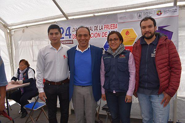 Aplican Comuna de Zacatelco y OPD Salud pruebas de detección de VIH