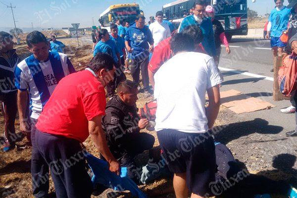 Peregrino del Puerto sufre un acidente en Cuapiaxtla