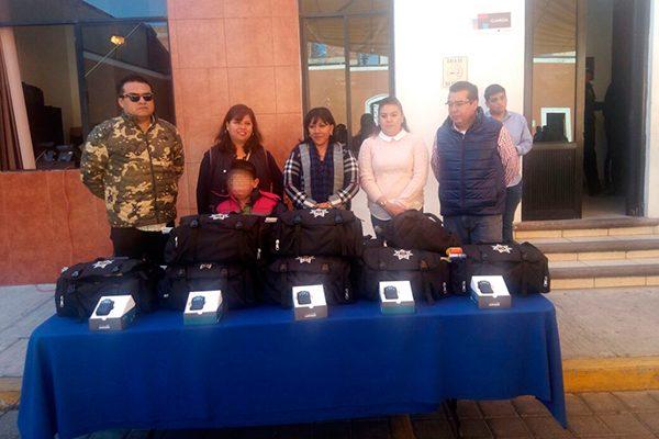 Concluye equipamiento con Fortaseg 2017 a la policía municipal de Tlaxcala