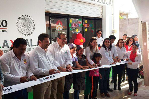 Inaugura Mena nuevo comedor comunitario en Zacualpan