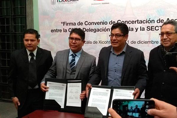 Firman Convenio de Concertación de Acciones la CMIC y Secture