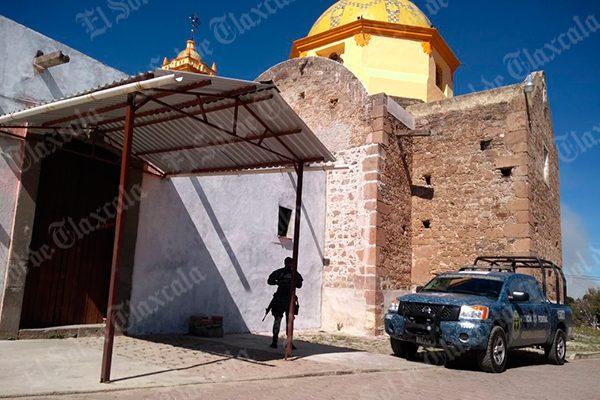 A 10 días del robo, resguardan la Policía Federal y Gendarmería iglesia de San Simón
